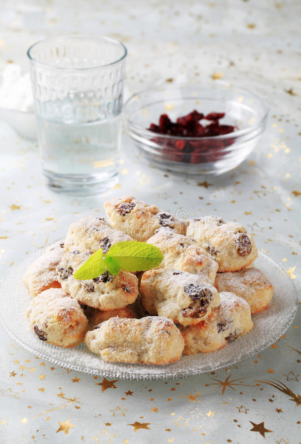 Mini Christmas stollen cakes stock photo