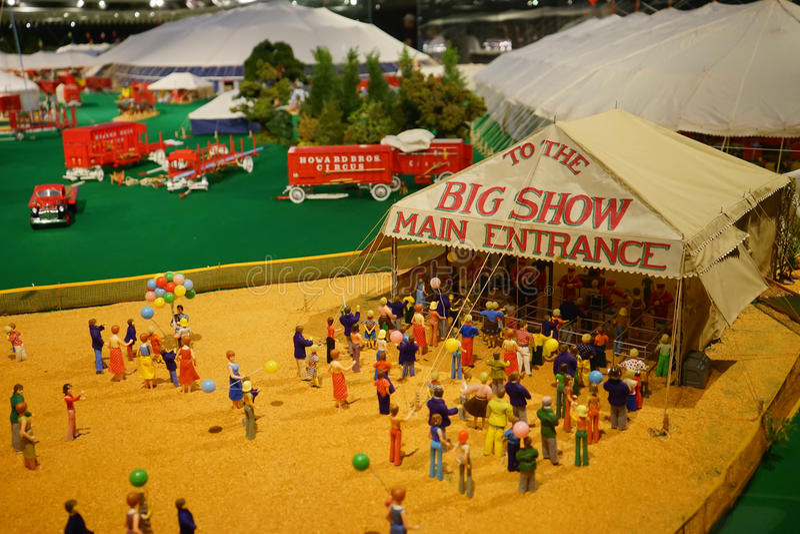 Mini circus statue: main entrance royalty free stock photos