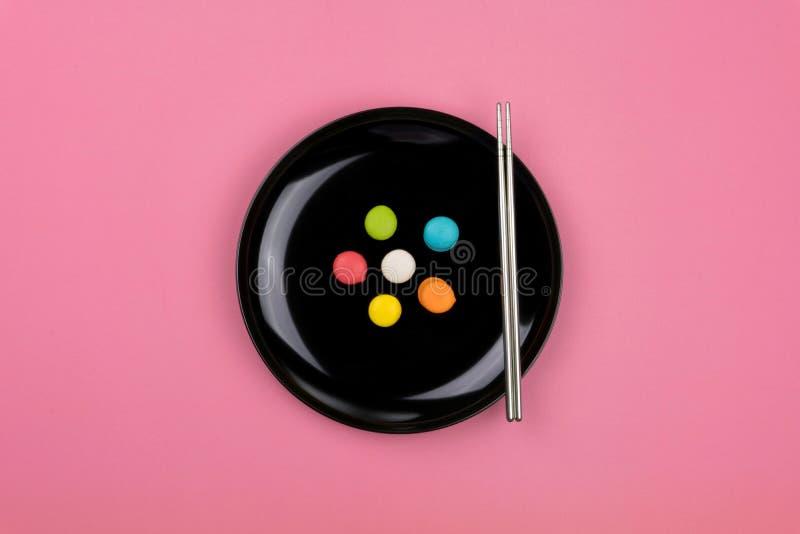 Mini Colorful Macarons royaltyfria bilder