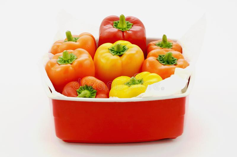 Mini colorful sweet peppers royalty free stock photography
