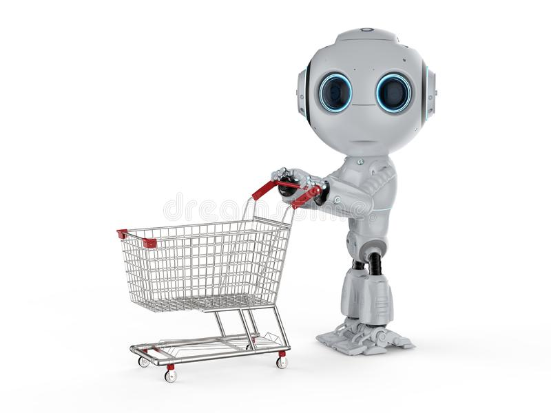 Mini compra do robô ilustração royalty free