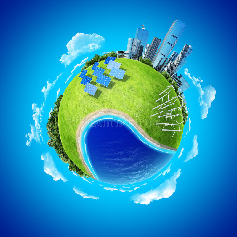 Mini conceito do planeta ilustração royalty free