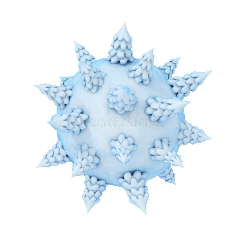 Mini concept de planète de l'hiver. illustration libre de droits