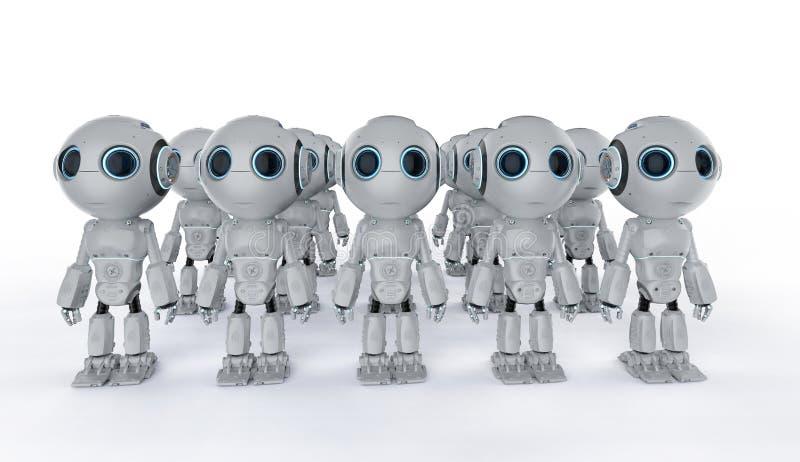 Mini conjunto dos robôs ilustração royalty free