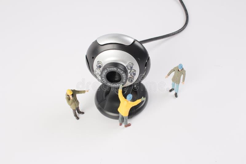 Mini construcción del trabajador del ingeniero de la gente imagen de archivo libre de regalías