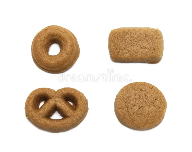 Mini cookies Chocolate malt flavored. Biscuits of crunchy delicious sweet meal and useful cracker. stock image
