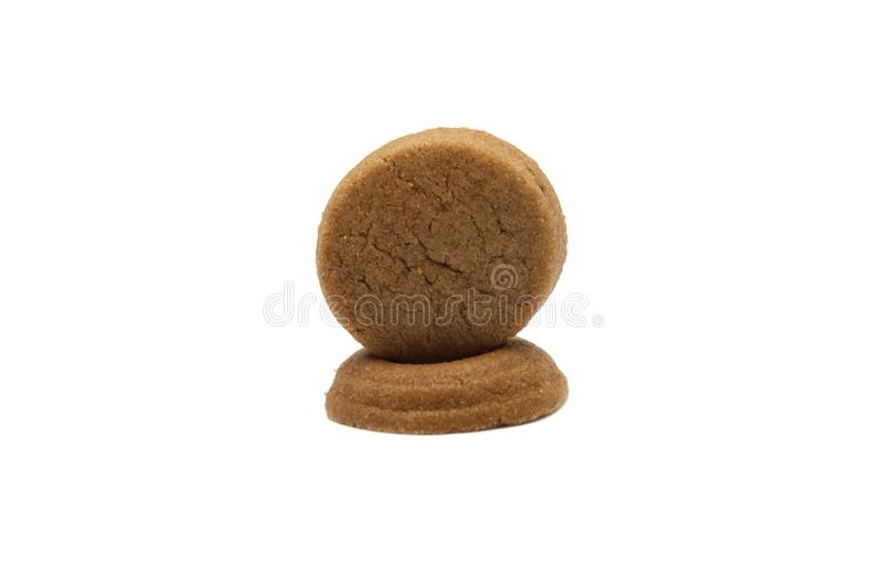 Mini cookies Chocolate malt flavored. Biscuits of crunchy delicious sweet meal and useful cracker. royalty free stock photography