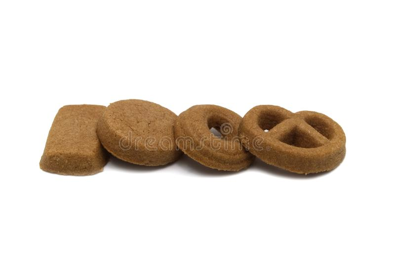 Mini cookies Chocolate malt flavored. Biscuits of crunchy delicious sweet meal and useful cracker. royalty free stock photo