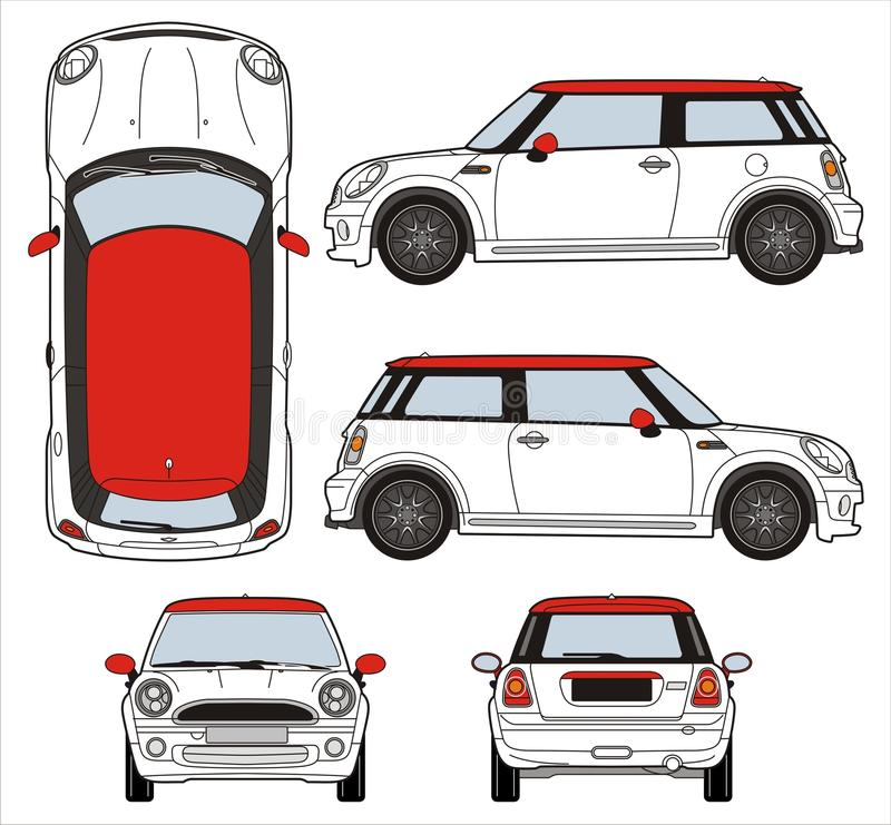 Mini- Cooper royaltyfri illustrationer