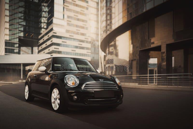 Mini Cooper bil royaltyfria bilder