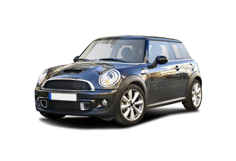 Mini Cooper. Black Mini Cooper isolated on white stock image