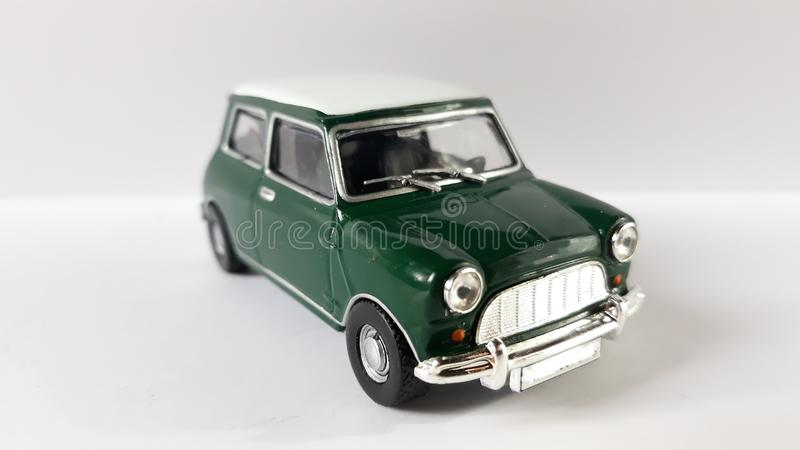 Mini cooper car. Picture of mini cooper s toy mr.bean royalty free stock image