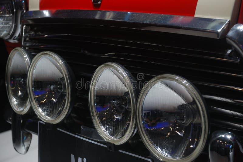 Mini cooper headlight stock image