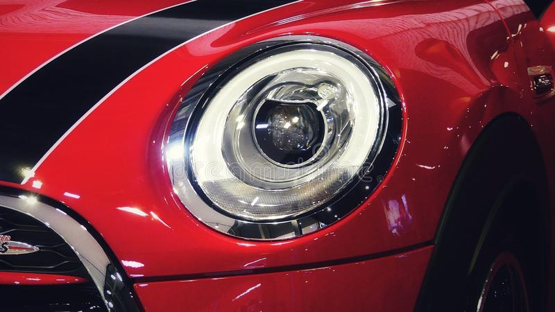 Mini Cooper red 2017 royalty free stock photos