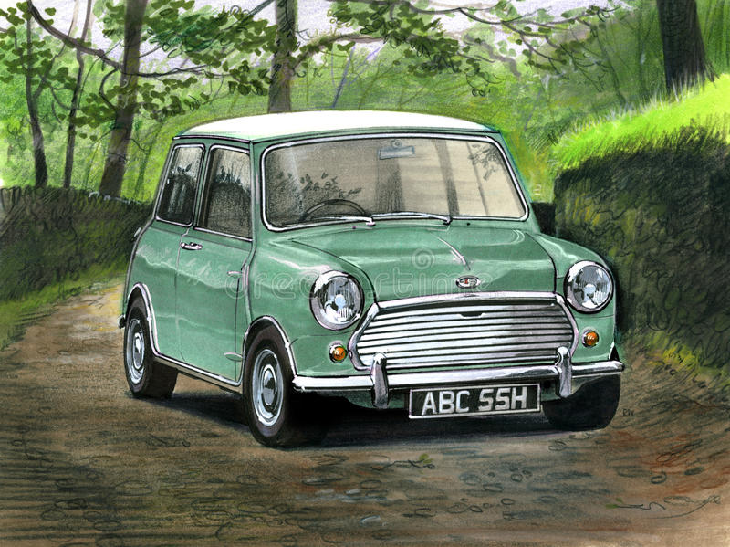Mini Cooper S MkII royalty free illustration