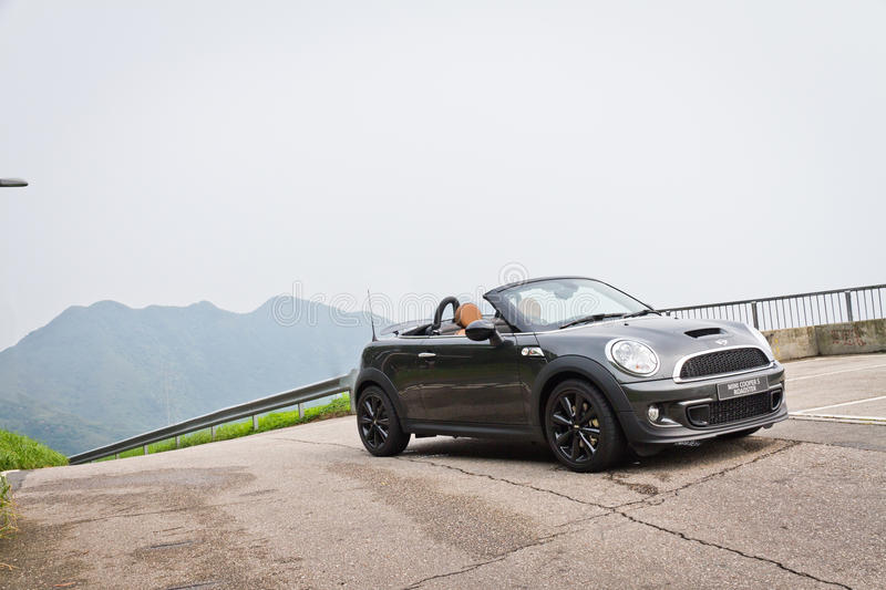 Mini Cooper S Roadster 2012. This is new model line in mini stock photos