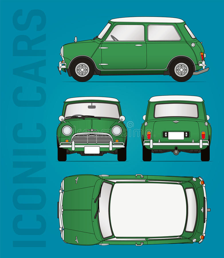 Free Mini Cooper Vector Illustration Stock Images - 76293044