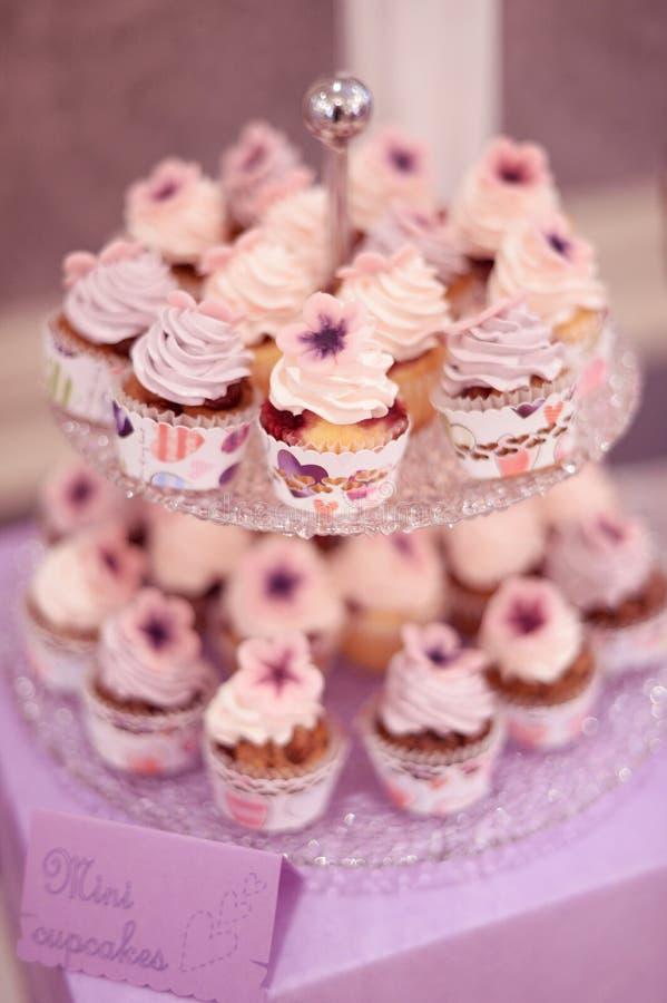 Mini Cupcakes lizenzfreie stockfotografie