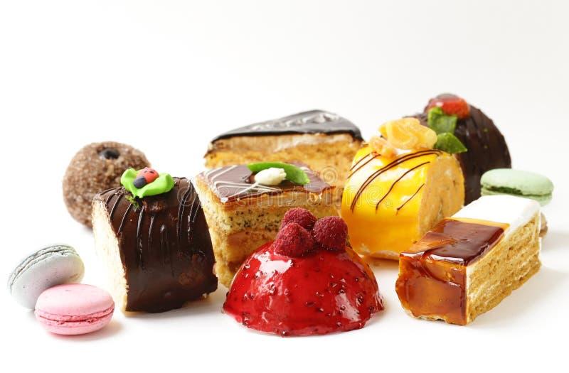 Mini dessert assortito del dolce dei dolci immagini stock libere da diritti