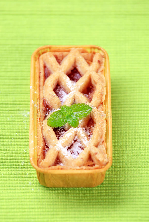 Mini dessert tart stock photos