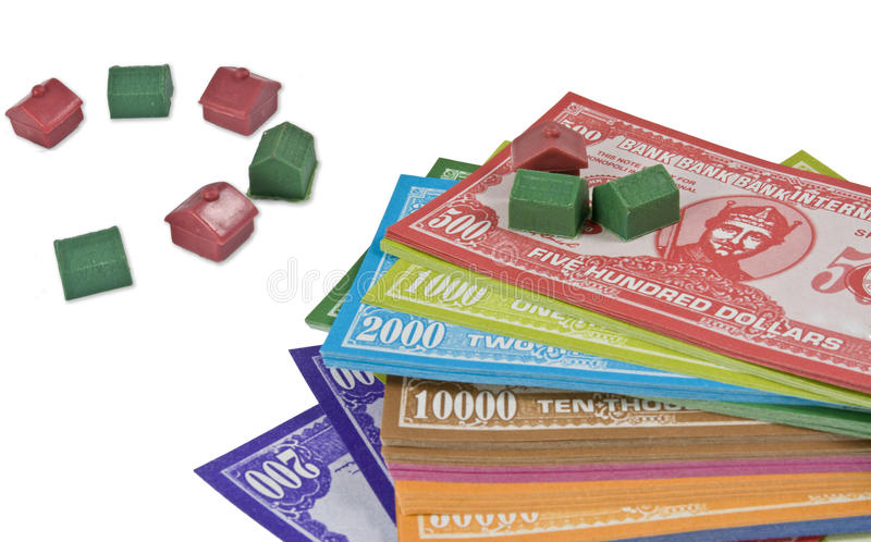 Mini dinheiro da casa imagem de stock