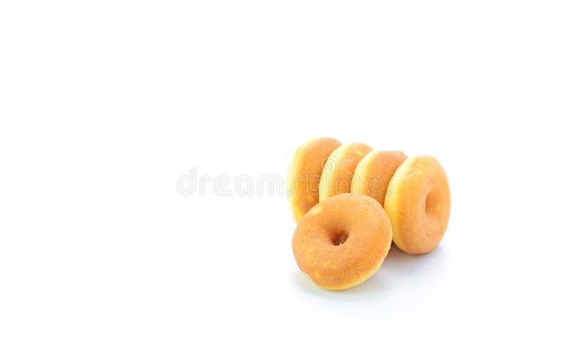 Mini donuts odizolowywający na białym tle zdjęcia stock