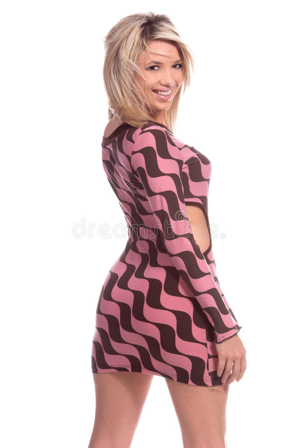 Mini Dress Blond stock photography