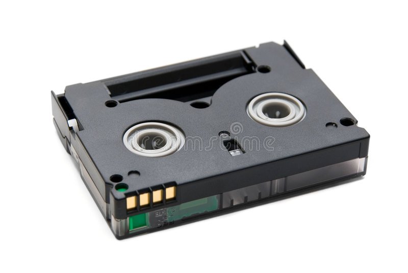 Mini Dv casette stock photo