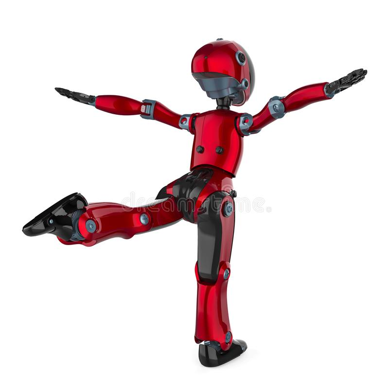 Mini e robô realmente agradável ilustração royalty free