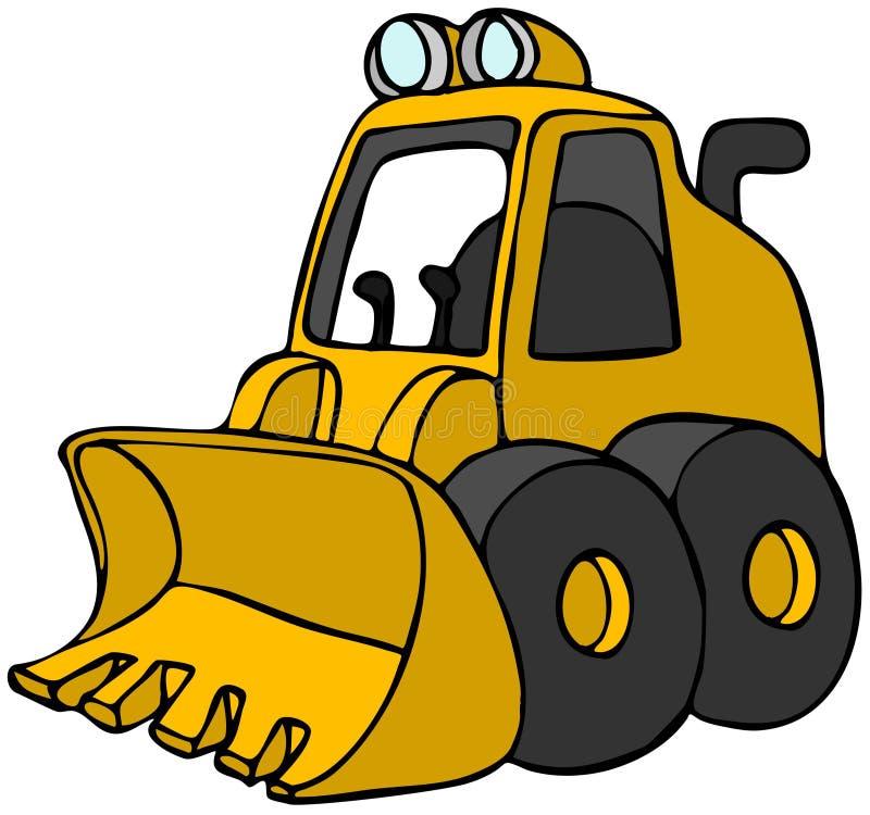 Mini escavadora ilustração stock