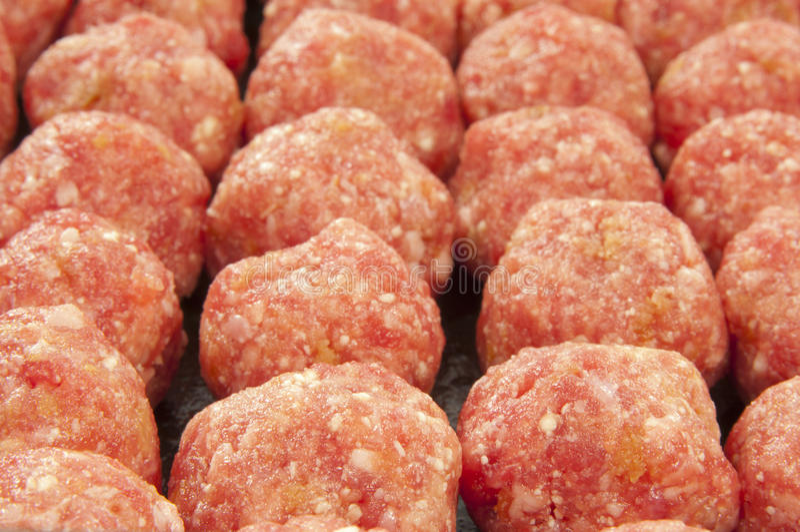 Mini esferas de carne imagens de stock