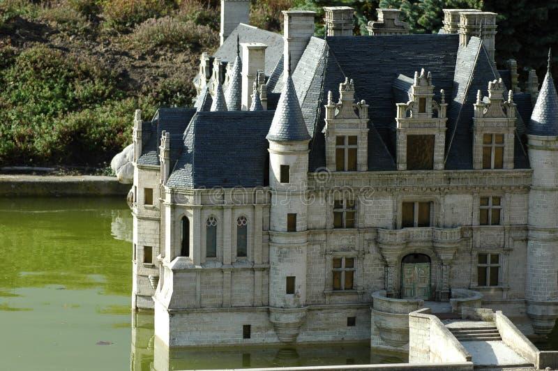 Mini Europe Parc à Bruxelles, Belgique - château français photographie stock libre de droits