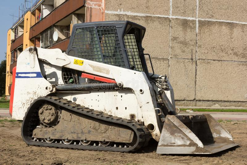 A mini excavator stock photos