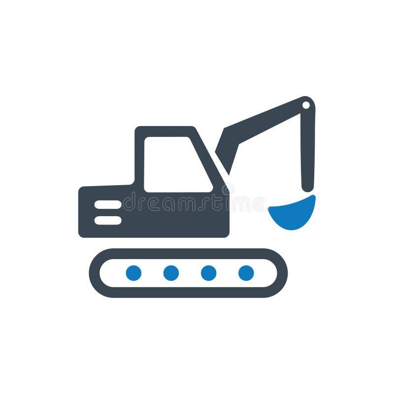 Mini Excavator Icon illustrazione di stock