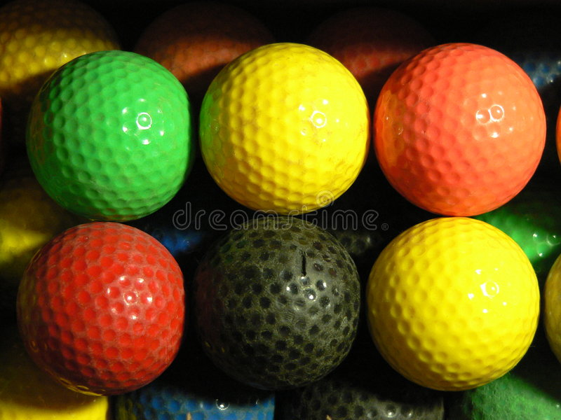 Mini extravagance de bille de golf photographie stock