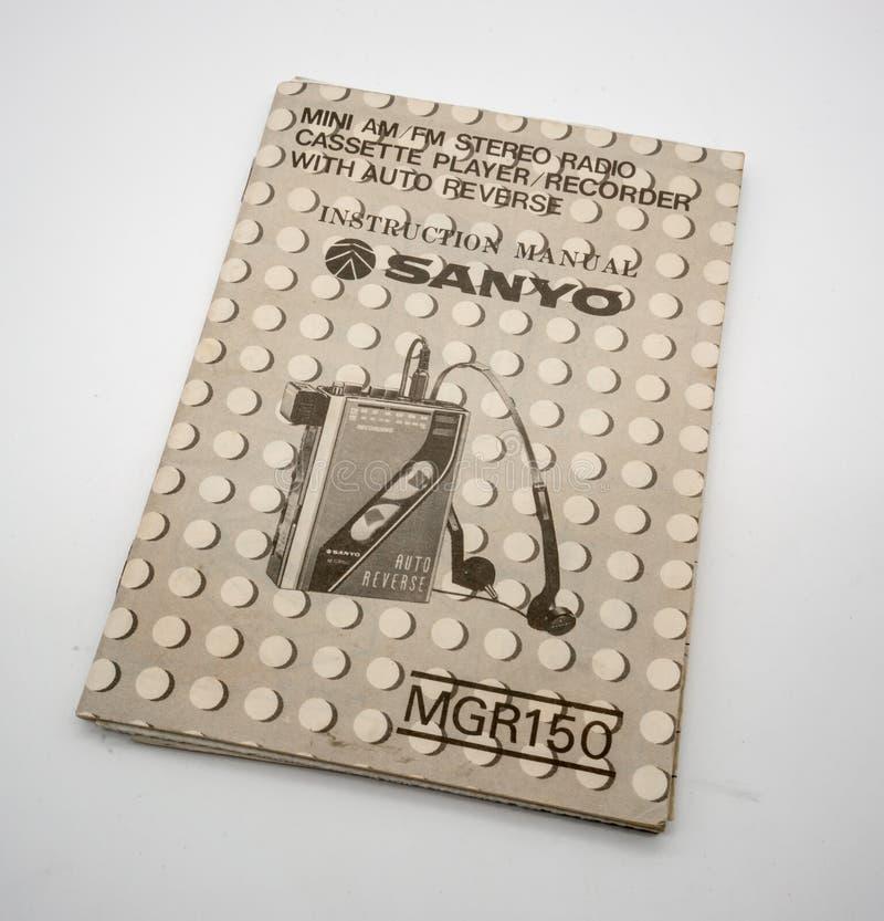 Mini- för radiokassett för AM-FM stereo- spelare och registreringsapparat royaltyfria foton