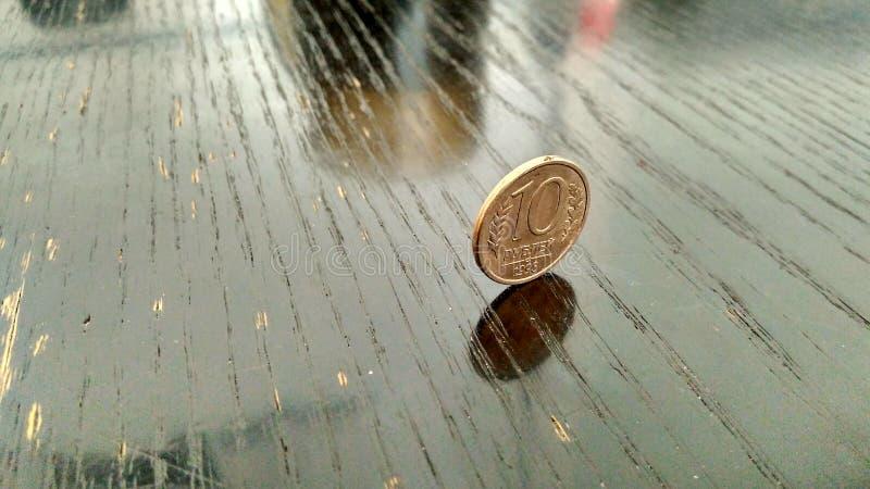 Mini finanzas 10 de Rusia del dinero de la moneda fotos de archivo libres de regalías
