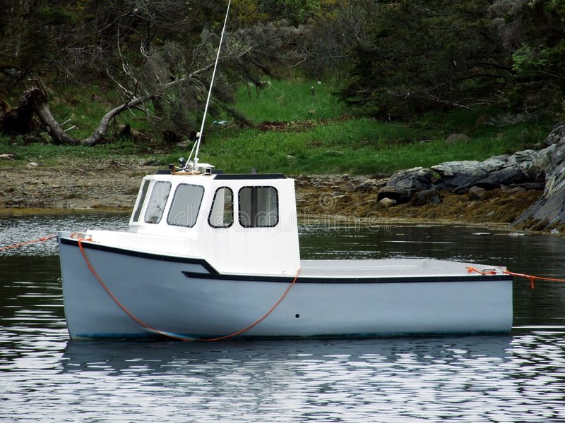 Mini fishing boat. Mini cape islander fishing boat Lunenburg County Nova Scotia Canada stock photo
