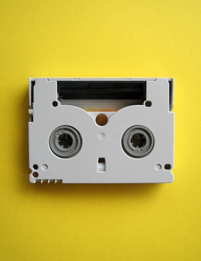 Mini fita de DV fotografia de stock