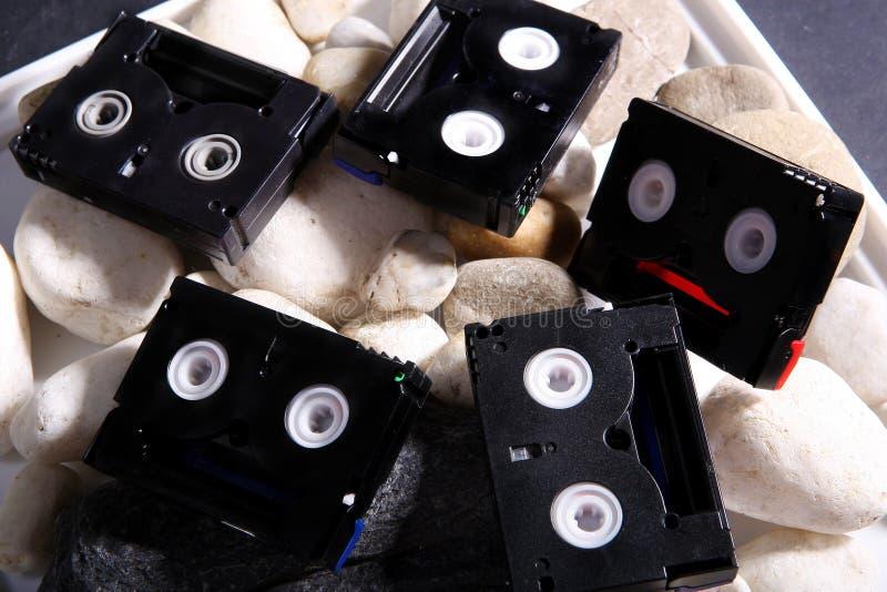 Mini fitas de DV foto de stock