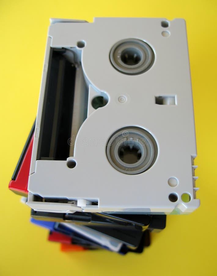 Mini fitas de DV imagens de stock