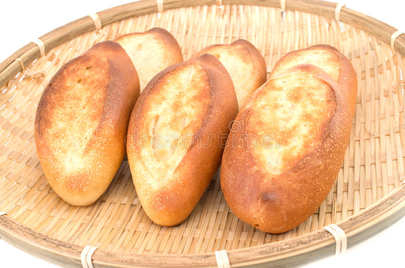 Mini french baguettes stock image