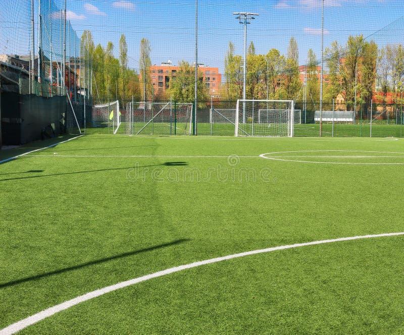 Mini-Fußballfeld stockbild