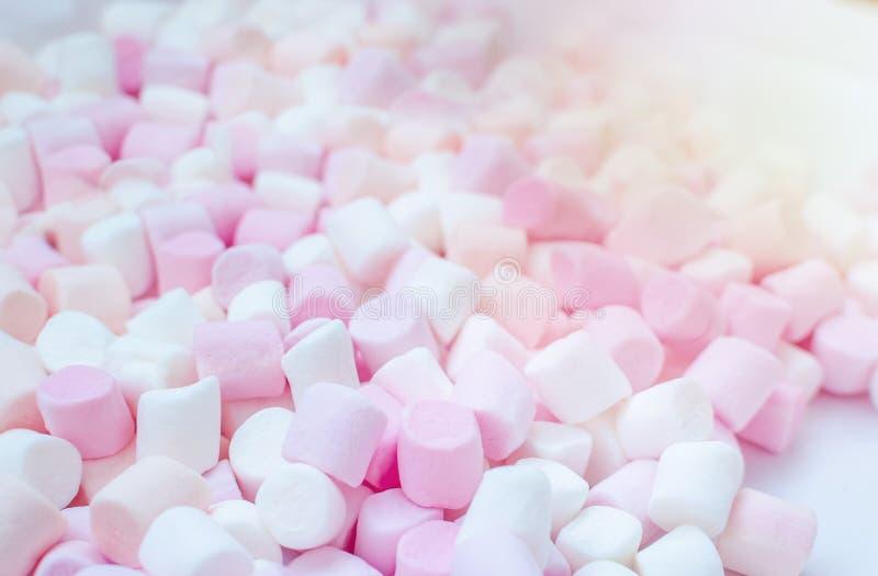 Mini fundo colorido dos marshmallows fotografia de stock royalty free