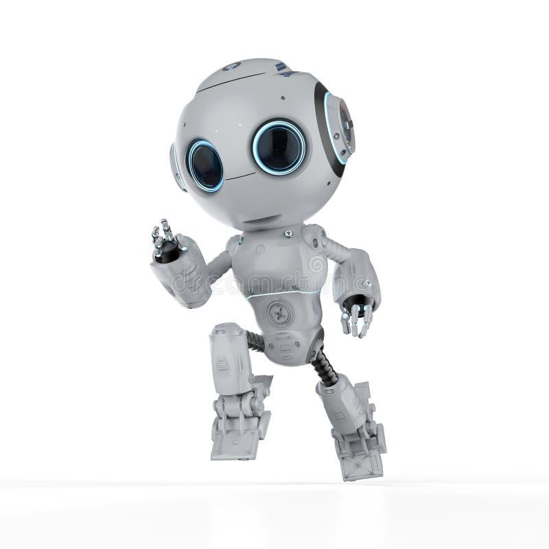 Mini funzionamento del robot illustrazione di stock