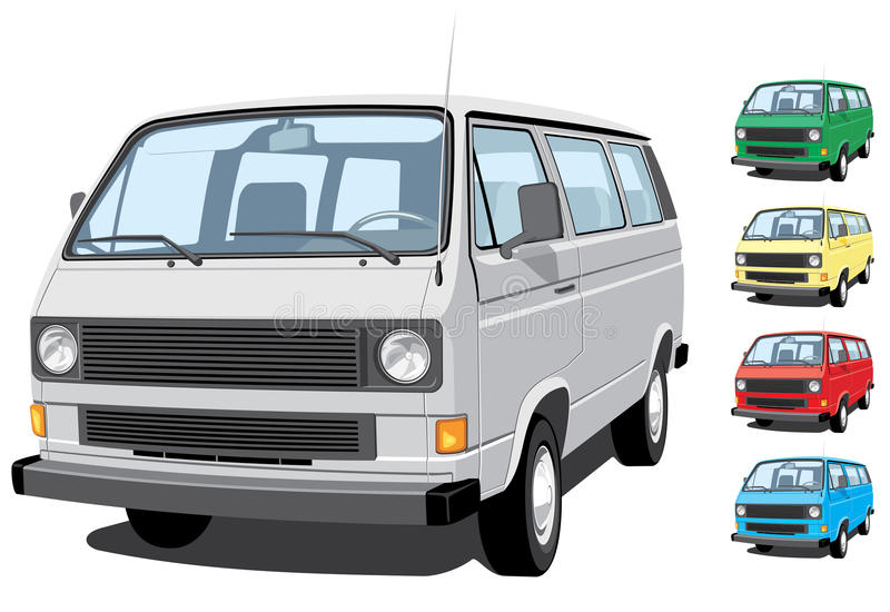 Mini furgoneta libre illustration