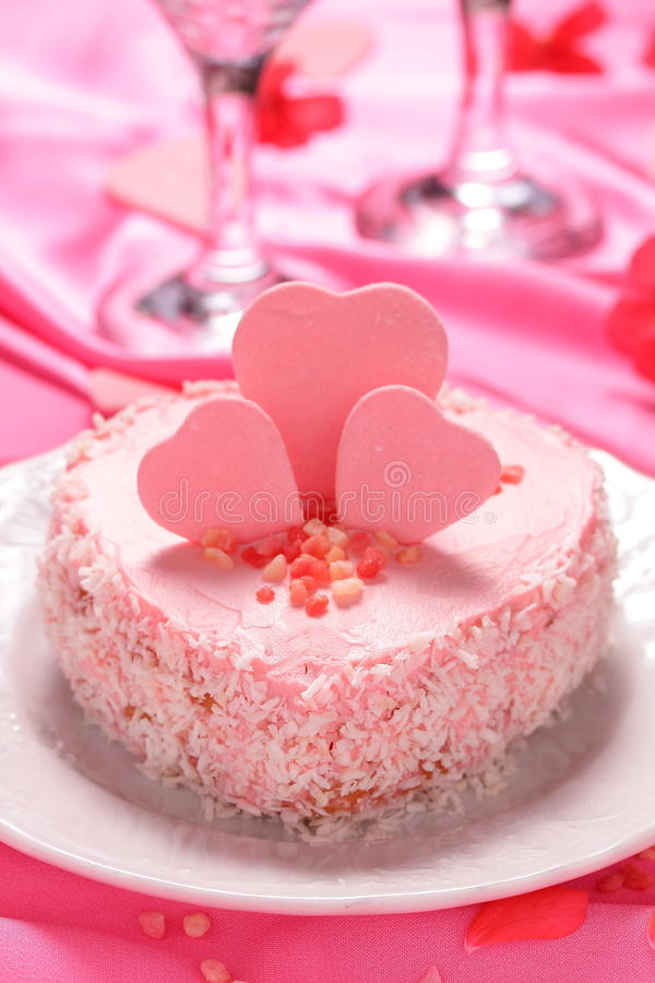 Mini gâteau rose. photo stock