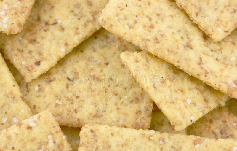 Mini galletas del trigo de la visión cercana fotografía de archivo libre de regalías