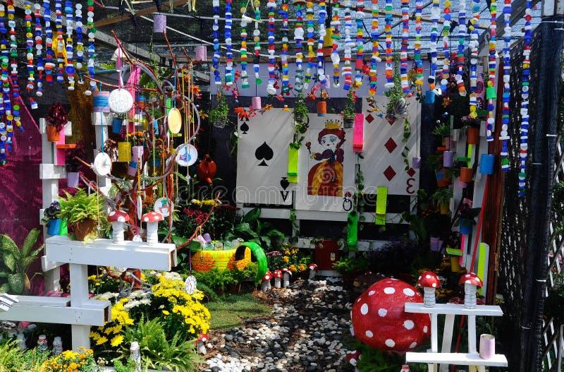 Mini Garden Built Using Recycled Materials Editorial Stock