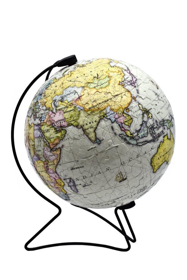 Mini globe de puzzle image stock